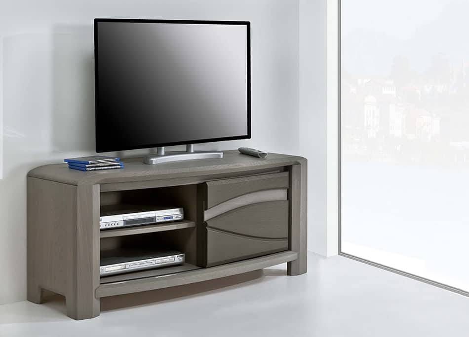 Collection oceane buffet naturel vazard home for Petit meuble tv bois