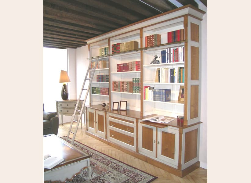 meuble bibliotheque couleur merisier. Black Bedroom Furniture Sets. Home Design Ideas