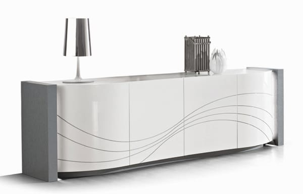Collection feijao ambiance contemporaine meuble laqu moderne vazard home - Buffet salon moderne ...