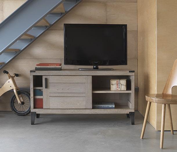 Collection nuances buffet bois atelier industrielle for Atmosphere meuble