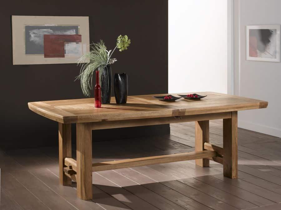 table contemporaine bois massif quebec