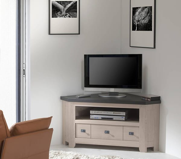Meuble tv angle contemporain design id es de d coration for Meuble tele solde