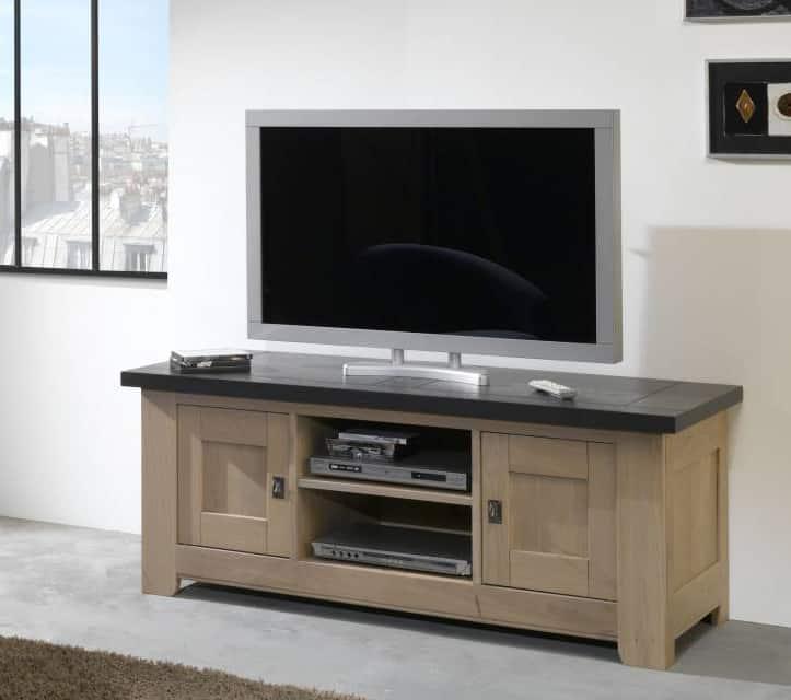 Collection Whitney  Séjour naturel  Campagne  Vazard home -> Meuble Tv Qui Se Ferme A Clef