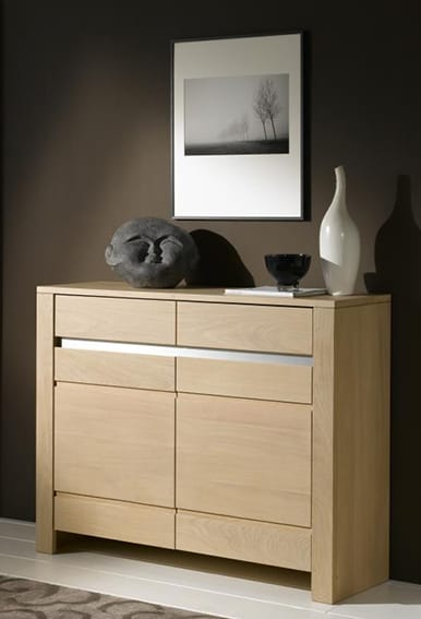 Collection yucca buffet contemporain naturel bois for Les aubaines meubles
