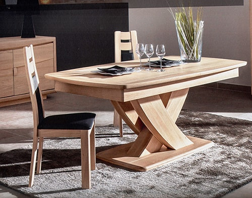 Collection ga a salle a manger design naturel vazard home - Table ovale pied central design ...