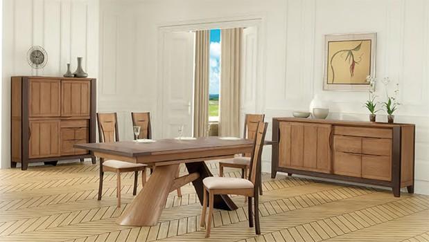 Collection roussillon meubles bois rustique vazard home for Ambiance salle a manger