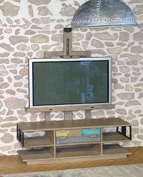 meuble tv chevalet nuances vazard. Black Bedroom Furniture Sets. Home Design Ideas
