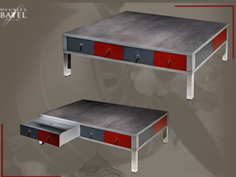 table basse metalo vazard. Black Bedroom Furniture Sets. Home Design Ideas