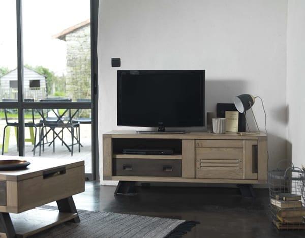 meuble tv artisane vazard. Black Bedroom Furniture Sets. Home Design Ideas