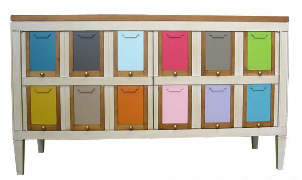 Meuble d 39 entr e les coloristes vazard for Les aubaines meubles