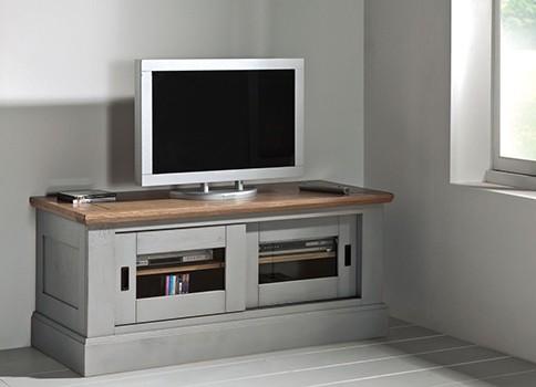 Grand meuble tv romance vazard for Meuble tele gris