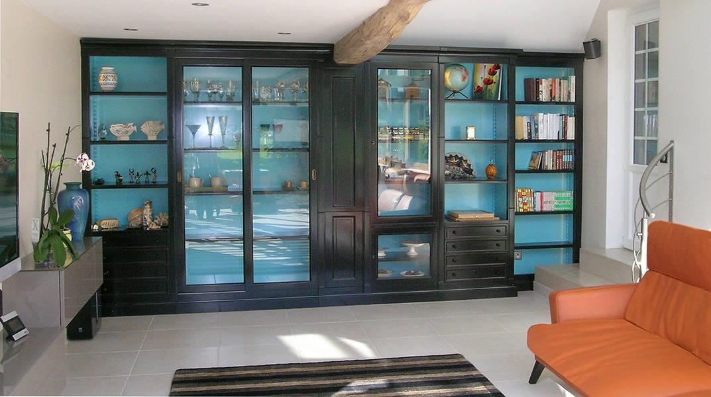biblioth que sur mesure meuble contemporain fabricant. Black Bedroom Furniture Sets. Home Design Ideas