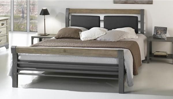 lit bois m tal bilbao vazard. Black Bedroom Furniture Sets. Home Design Ideas