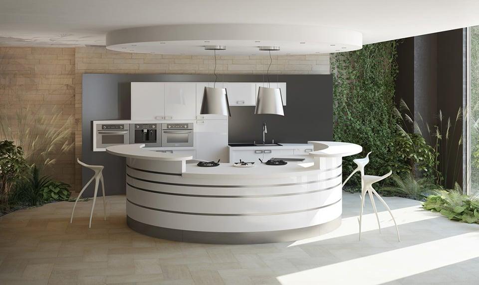 cuisine-celtis-alicante-blanche - meuble contemporain - fabricant de