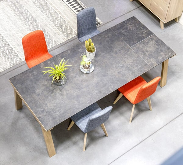 Table c ramique copenhague vazard for Table ceramique bois