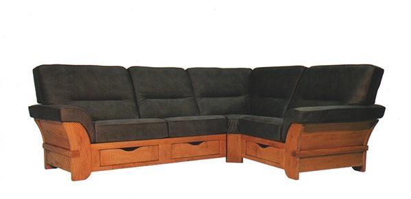 canape angle cassis cuir bois rustique leleu - Canape Rustique