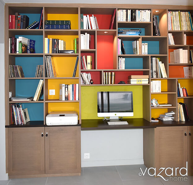 bibliotheque-bureau-design-sur-mesure-fond-couleurs-vazard-home