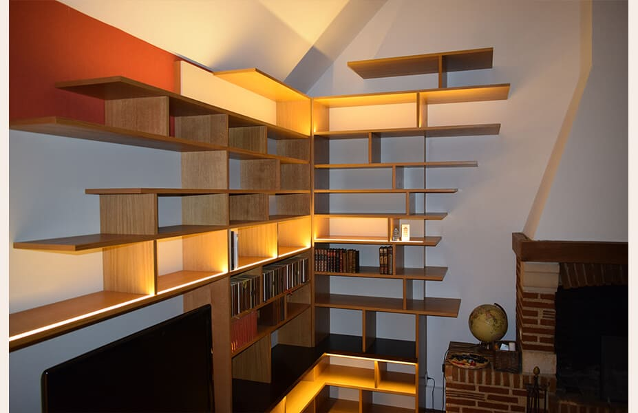 bibliotheque-home-cinema-sur-mesure-chemine-detail