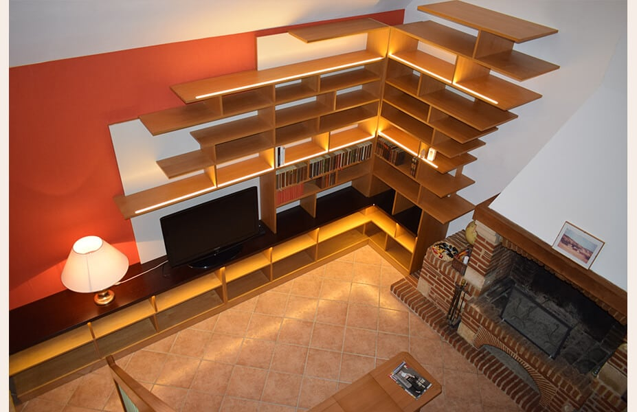 bibliotheque-home-cinema-sur-mesure-chemine-perspective