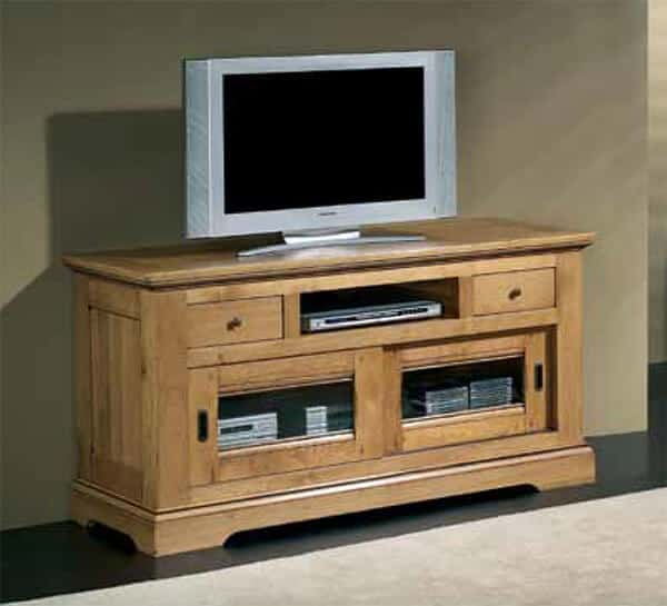 Collection cabourg buffet ch ne rustique vazard home for Meuble tv fin