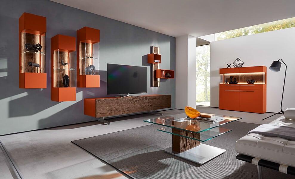 bohle-salon-finition-laque-orange-bois-brut-contemporain-naturel ...