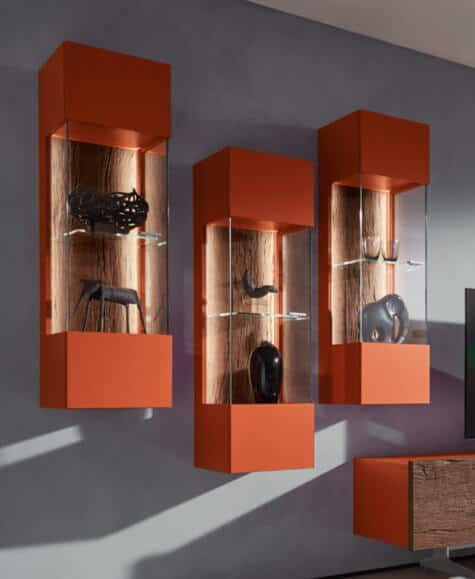 vitrine suspendue tag re murale bohle vazard. Black Bedroom Furniture Sets. Home Design Ideas