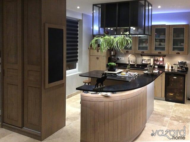 Derniere realisation meuble contemporain fabricant de for Ilot cuisine sur mesure