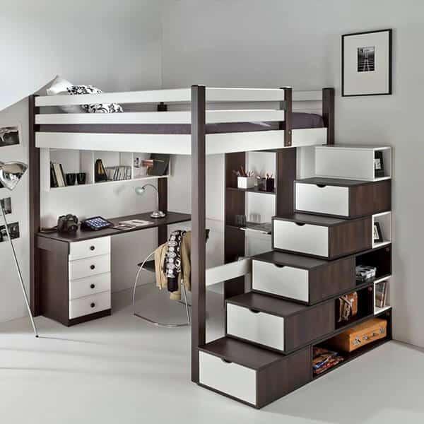 lit mezzanine rangement alto vazard. Black Bedroom Furniture Sets. Home Design Ideas