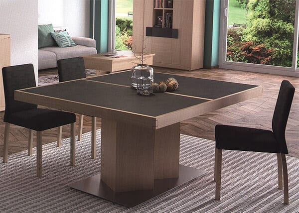 table rectangulaire pied central oblique ernest vazard. Black Bedroom Furniture Sets. Home Design Ideas