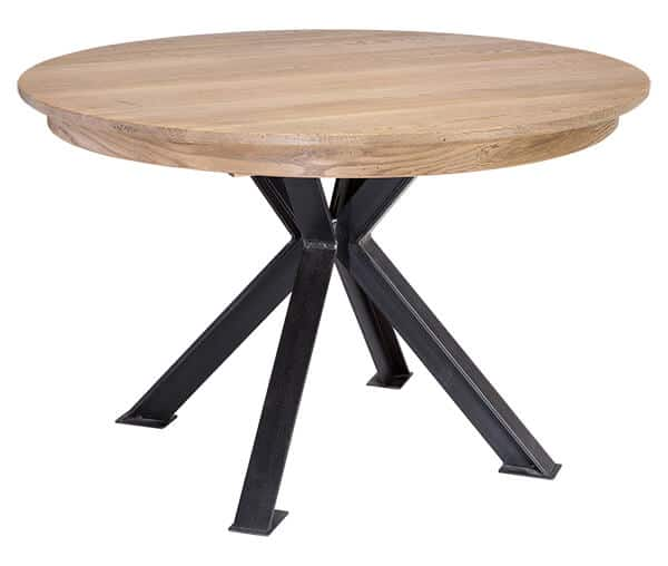 Table ronde pied central bois massif table ronde bois - Table ronde pied central bois ...