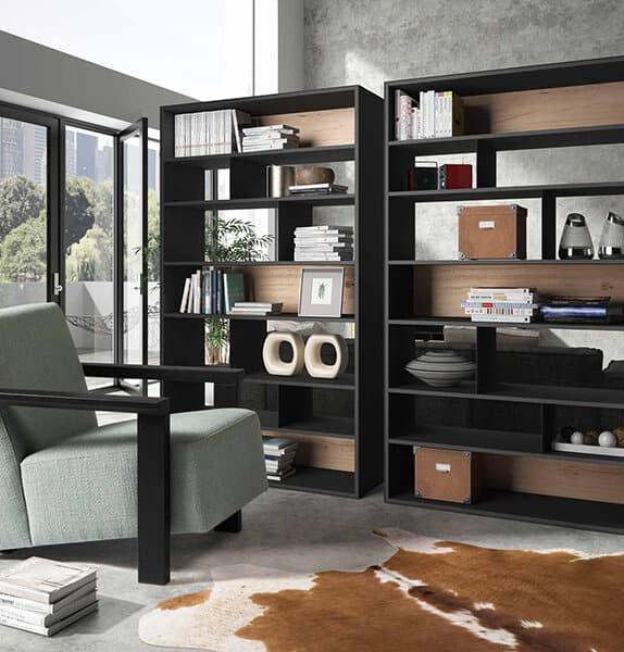 biblioth que de s paration brooklyn vazard. Black Bedroom Furniture Sets. Home Design Ideas