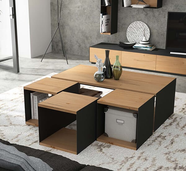 table basse cube brooklyn vazard. Black Bedroom Furniture Sets. Home Design Ideas