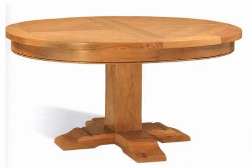 table ronde pied central monastere vazard. Black Bedroom Furniture Sets. Home Design Ideas