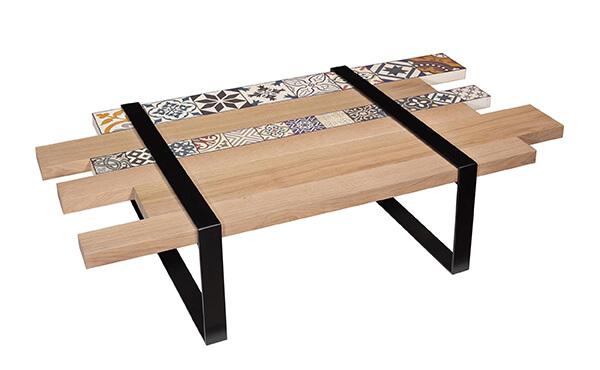 table basse chemin de fer opus vazard. Black Bedroom Furniture Sets. Home Design Ideas