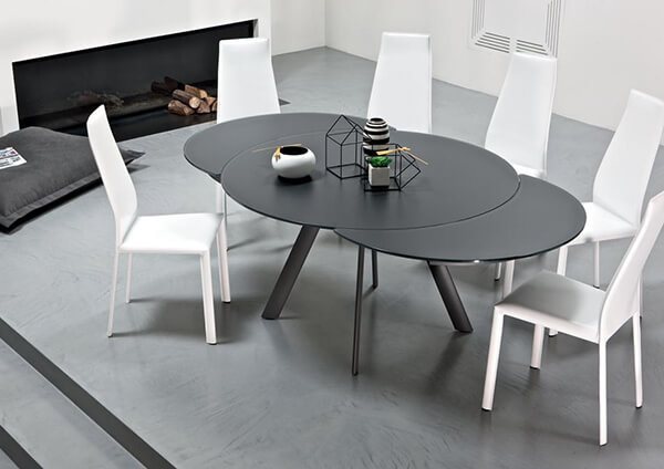 table-ronde-giro-plateau-noir