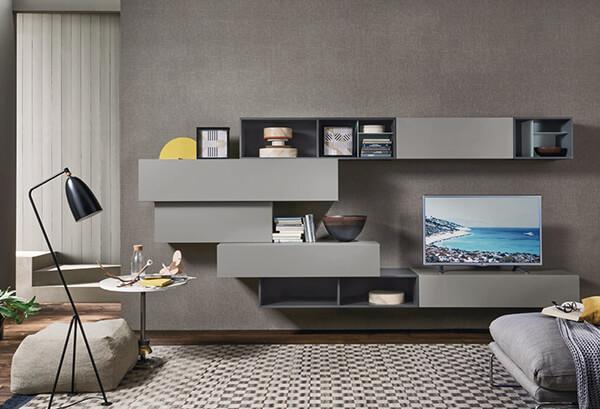 meuble-tv-suspendu-lampo-design-laque-gris-clair-l502