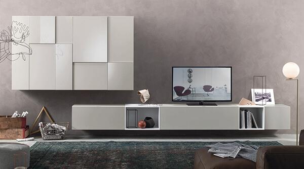 meuble-tv-suspendu-lampo-design-laque-blanche-beige-l5c07