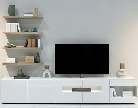 meuble tv design blanc karat
