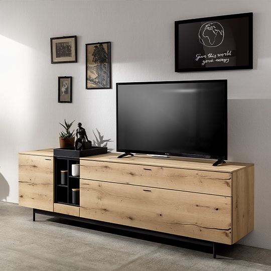 meuble television industriel style ambiance