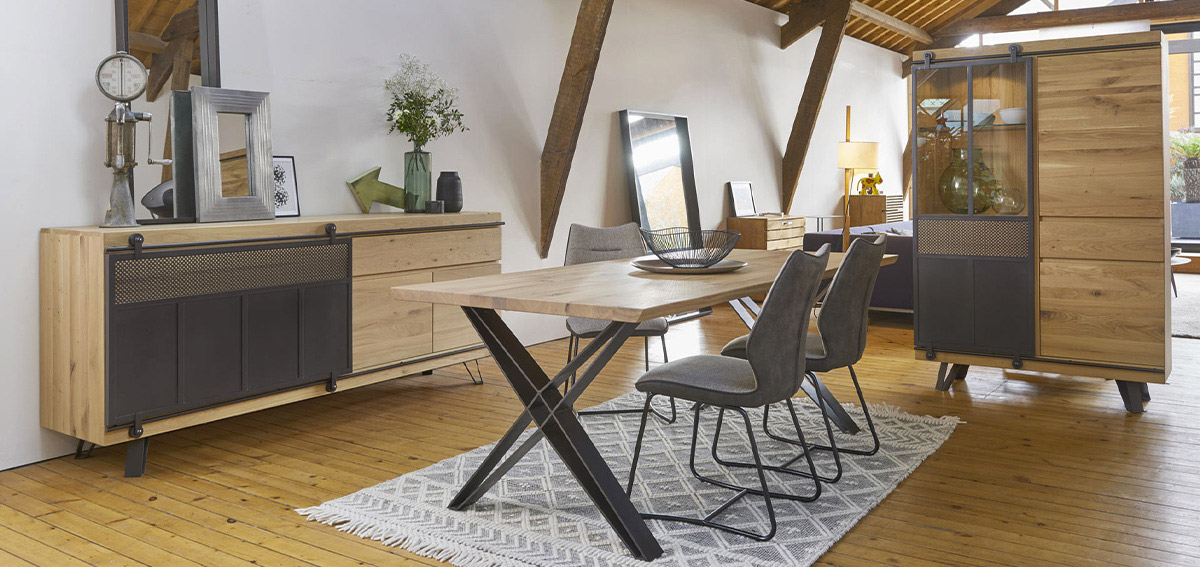 Salle A Manger Style Industriel Collection Fusion C