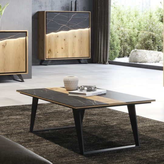 Table Basse Contemporaine Ceramique Noire P1 Daxe